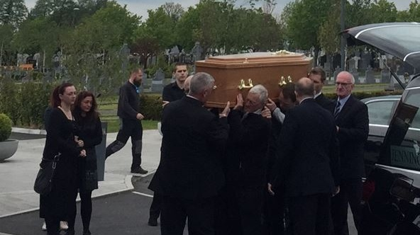 The funeral of Rafal Skóra (41) at Dardistown Crematorium, Dublin. Photograph: Ellen O'Riordan