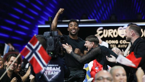 John Lundvik of Sweden lost out in the final round of voting. Photograph: Guy Prives/Getty Images