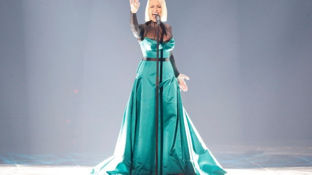Tamara Todevska, representing North Macedonia, performs live on stage during the 64th annual Eurovision Song Contest. Photograph: Michael Campanella/Getty Images