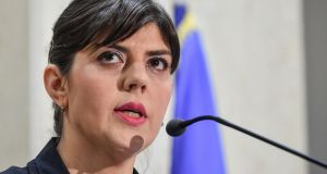 Laura Codruta Kovesi, Romania's former chief anti-corruption prosecutor and thorn in the side of the government, was forced out of her job last year by the justice minister. Photograph: Daniel Mihailesdu/AFP/Getty Images