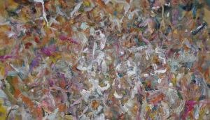 Detail from Lamont Cranston (2018) by Larry Poons
