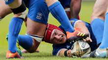 Leinster's Josh van der Flier in action against Munster in the Pro14 semi-final at the RDS. Photograph:  Laszlo Geczo/Inpho
