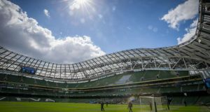 The Aviva stadium will host four Euro 2020 games, three group games and a last 16 game. Photograph:   Oisín Keniry/Inpho