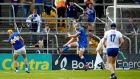 Tipperary's Séamus Callahan scores his side's second goal during the Munster SHC game against Waterford at Semple Stadium. Photograph: Ryan Byrne/Inpho