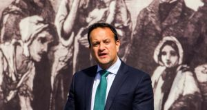 Taoiseach Leo Varadkar at the National Famine Commemoration in  Sligo. Photograph: James Connolly