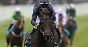 Donnacha O'Brien riding Sir Dragonet win the MBNA Chester Vase Stakes at Chester Racecourse on May 8th in Chester, England. Photograph: Alan Crowhurst/Getty Images
