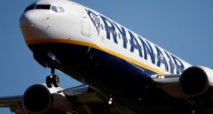 Profits fell at Ryanair in its latest financial year. Photograph: Christian Hartmann/Reuters