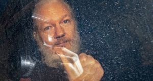 Julian Assange is  serving a 50-week sentence in UK for skipping bail. Photograph: Victoria Jones/PA Wire