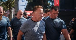 Actor  Arnold Schwarzenegger at the Arnold Classic Africa, a sporting festival held at the Sandton Convention Centre in Johannesburg, South Africa. Photograph: Michele Spatari/AFP/Getty Images