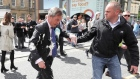 Eyewitness footage captures aftermath of Farage milkshake incident