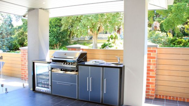 Outdoor kitchen company Profresco designs its range with granite countertops on galvanised steel frames