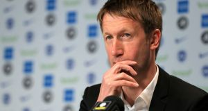 Brighton & Hove Albion's new manager Graham Potter. Photograph: Gareth Fuller/PA