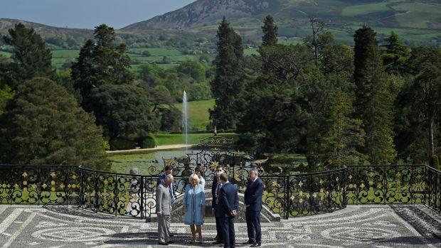 Britain's Prince Charles and Camilla, Duchess of Cornwall visit Powerscourt Estate in Enniskerry, Co Wicklow. Photograph: Clodagh Kilcoyne/Reuters