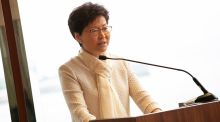 Chief executive of Hong Kong Carrie Lam: 'Suddenly in the middle of last year we had this trade war and all the figures came down'. Photograph: Richie Stokes