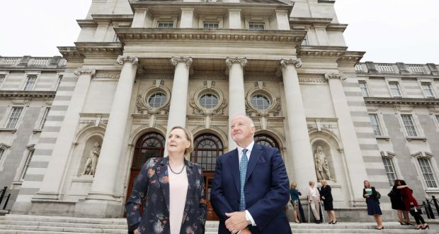 Better Balance for Better Business's Brid Horan and Gary Kennedy: group was established in 2018 when only 18 per cent of directors at top Irish publicly quoted companies were women. Photograph: Leah Farrell