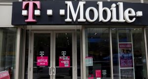 T-Mobile rose almost 5% to $79.05 after the news. Photograph: Shannon Stapleton/Reuters