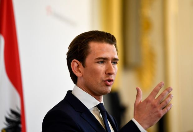 Sebastian Kurz: 'In order to pursue our agenda and bring about change, I had to be willing to endure quite a lot.' Photograph: Christian Bruna/EPA