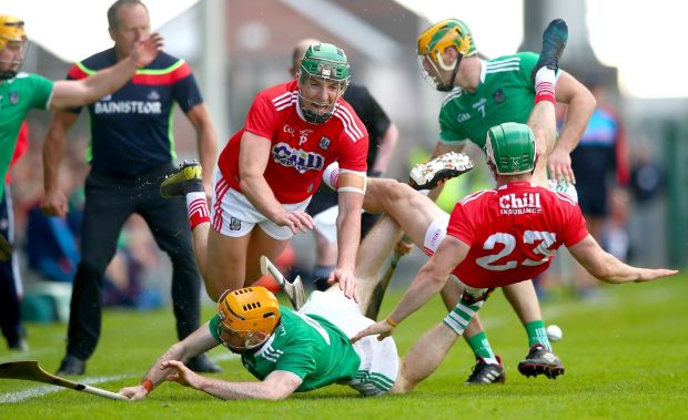 Aidan Walsh in action during Cork's win over Limerick. Photograph: James Crombie/Inpho