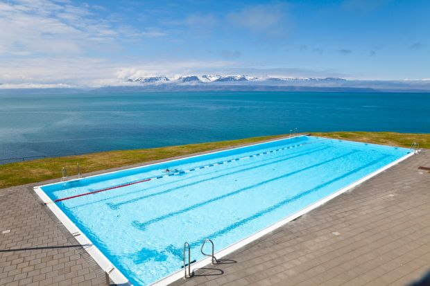 Arctic Coast Way: the 900km touring route traces Iceland's northern coast; this pool is in Hofsos. Photograph: iStock/Getty