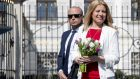 Newly elected Slovakia's President elect Zuzana Caputova  arrives for a interview with  Czech television in the front of the Presidential palace in Bratislava, Slovakia on March 31, 2019.  JOE KLAMAR/AFP/Getty Images