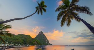 St Lucia is spectacular – sun-soaked, small but ruggedly mountainous and thickly covered in exotic, lush plant life, with clear, warm-water beaches. Photograph: Getty