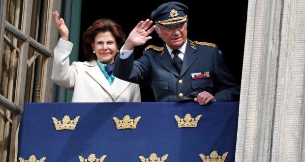 5582ff89 Queen Silvia of Sweden and King Carl XVI Gustaf of Sweden. Photograph:  Michael Campanella