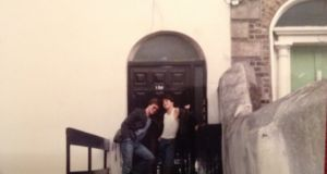Peter Money, right, in Dublin  back in the day