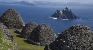 The monastic settlement on Skellig Michael off the coast of Co Kerry