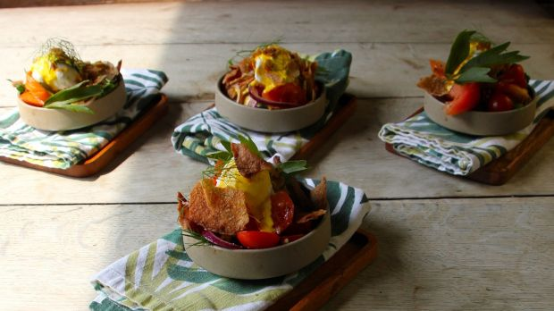 A tasty summer snack: Sweetcorn fritters with chilli butter.