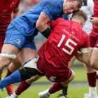 Munster's Mike Haley is tackled by Rhys Ruddock of Leinster in last Saturday's Guinness Pro14 semi-final at the RDS in Dublin. Photograph: Laszlo Geczo