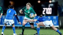 Ireland's Leah Lyons in action against Italy during the Women's Six Nations Championship in Parma earlier this year. Photograph: ©INPHO/Matteo Ciambelli