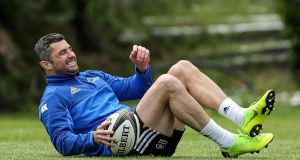 Rob Kearney at Leinster Rugby Squad Training in   UCD, Dublin on Monday.  Photograph: Laszlo Geczo/Inpho