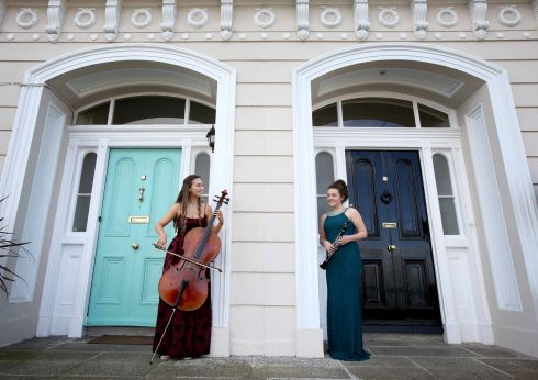 HOUSE GUESTS: Clarinettist Zoe Slater (right) and cellist Winifred Massey launch the 2019 Great Music in Irish Houses Festival in Dublin, which features nine concerts in various venues, from June 11th to 16th. Photograph: Mark Stedman