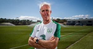 Republic of Ireland manager Mick McCarthy in Faro, Portugal. Photograph: ©INPHO/Ryan Byrne