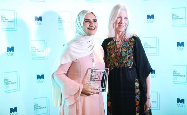 Arabic author Jokha Alharthi and translator Marilyn Booth. Photograph: Isabel Infantes/AFP/Getty Images