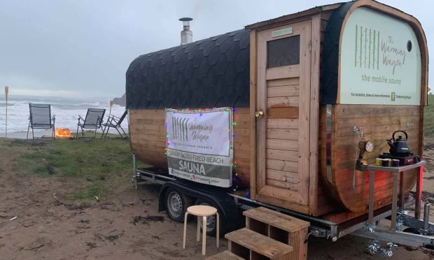 Warming Wagon: the mobile sauna pops up regularly at sunrise and sunset on Inch Beach, in Co Cork