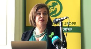 Sinn Fein leader Mary Lou McDonald: condemned 'co-living' proposals. Photograph: Michelle Devane/PA Wire