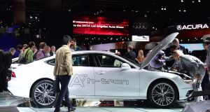 The Audi A7 h-tron concept plug-in hydrogen hybrid  at the LA Auto Show's in 2014. Photograph:   Getty Images
