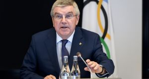 International Olympic Committee (IOC) President Thomas Bach opens the meeting of the IOC executive committee on boxing at the 2020 Olympic Games. Photo by Fabrice Coffrini/Getty Images