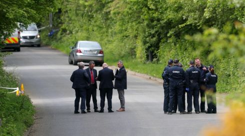 GUN DEATH: Gardai on Wednesday morning at the scene of the fatal shooting of a man at Walshestown, north Co Dublin, late the previous night. Photograph: Colin Keegan/Collins Dublin