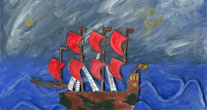 Third prize in Category G was won by Ryan King (9), a student at St Ita's School, Drogheda, for his work entitled A Ship's Voyage.