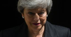 "Theresa May: ""The sofa is up against the door, she's not leaving,"" said former Conservative leader Iain Duncan Smith. Photograph: Daniel Leal-Olivas/AFP/Getty Images"