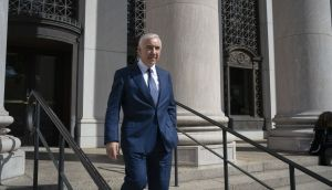 Sean Dunne leaves the US federal court house in New Haven, Conneticut on Wednesday after giving testimony in his civil financial fraud trial. Photograph: Douglas Healey for The Irish Times