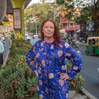 Rosita Boland in Bangalore, in India: 'That we go out of our doors in the morning and mostly return unscathed in the evening seems a small daily miracle to me.' Photograph: Brenda Fitzsimons