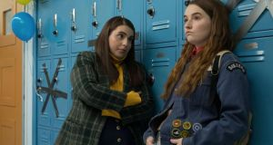 Brain boxed: Beanie Feldstein and Kaitlyn Dever in Booksmart