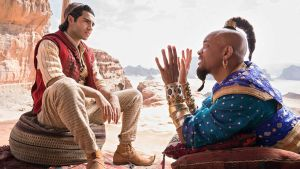 Mena Massoud and Will Smith in Aladdin. Photograph: Daniel Smith/Disney