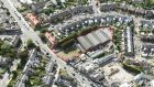 An aerial view of the former Classic Cinema site at Harold's Cross, Dublin 6W