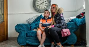 Maddix and his mother, Nadine Staunton, who is struggling to find a new school for her son. Photograph: James Forde