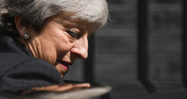 Britain's prime minister Theresa May is expected to announce on Friday that she will resign as Conservative leader when MPs return from the Whitsun recess in early June. She would remain as prime minister until a new leader is elected, probably by the end of July. Photograph: Getty Images