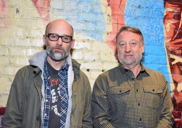 Moby and Peter Hook: 'Ian would be proud.' Photograph: Araya Diaz/Getty